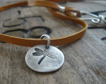 Aspire Necklace - Handmade. Fine & Sterling Silver. Leather