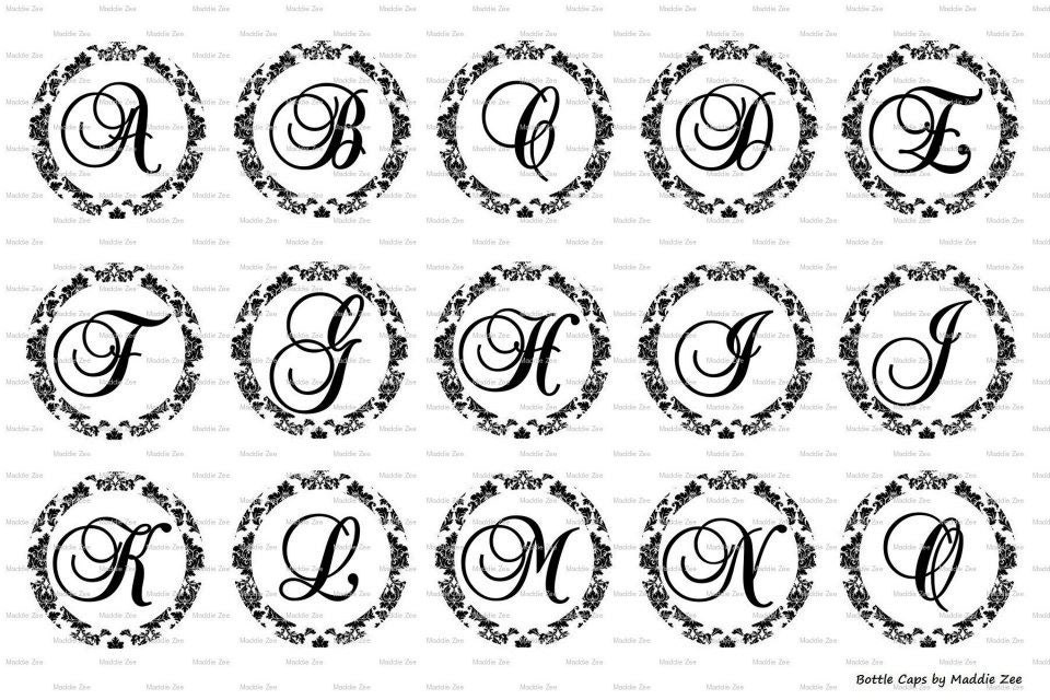 Complete alphabet damask fancy letters images digital download zoom pronofoot35fo Image collections