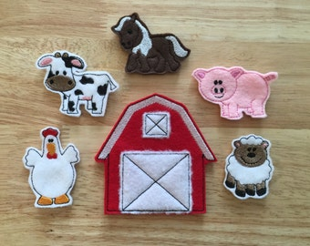 Farm Animal Finger Puppets with BONUS Carrying Case