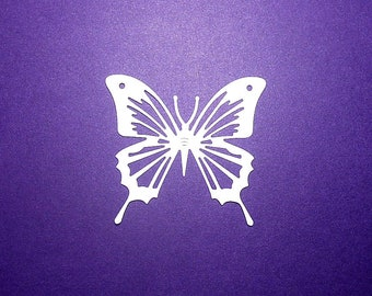 "Intricate Butterfly Die Cuts Color Choice 2 1/2"" x 2 1/4"" Cardstock Paper Butterfly Embellishments, Scrapbooking, Card Making 12 pc"