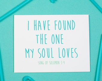 The One My Soul Loves Card, Love, Marriage
