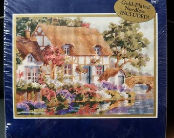 Cottage By the River needlepoint kit