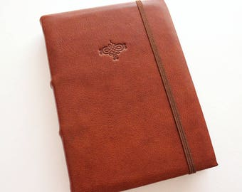READY TO SHIP Brown Leather A6 Journal