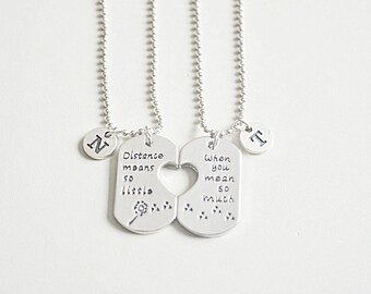 Long distance relationship, boyfriend girlfriend necklace, boyfriend girlfriend jewelry, long distance relationship necklace, boyfriend gift