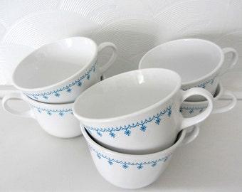 Corelle Livingware Blue Snowflake Cups, Set of Six
