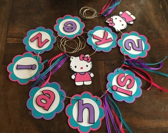 Hello Kitty Banner, Hello Kitty Party, Hello Kitty Decorations, Hello kitty decor, Girl Birthday, Hello Kitty