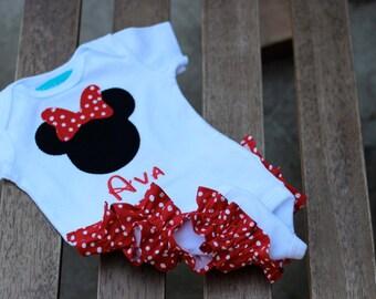 Minnie Mouse Ruffle Bum Onesie Baby Girl Ruffle Butt
