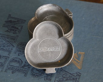 Vintage Dubonnet Pewter Tray/Club Motif Pewter Ashtray/Vintage Bar Ashtray/Dubonnet Vintage Trinket Tray/Pewter Ring Tray/Earring Tray