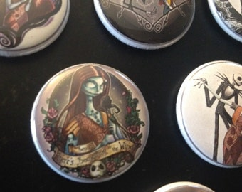 Jack and Sally, Nightmare Before Christmas magnet set
