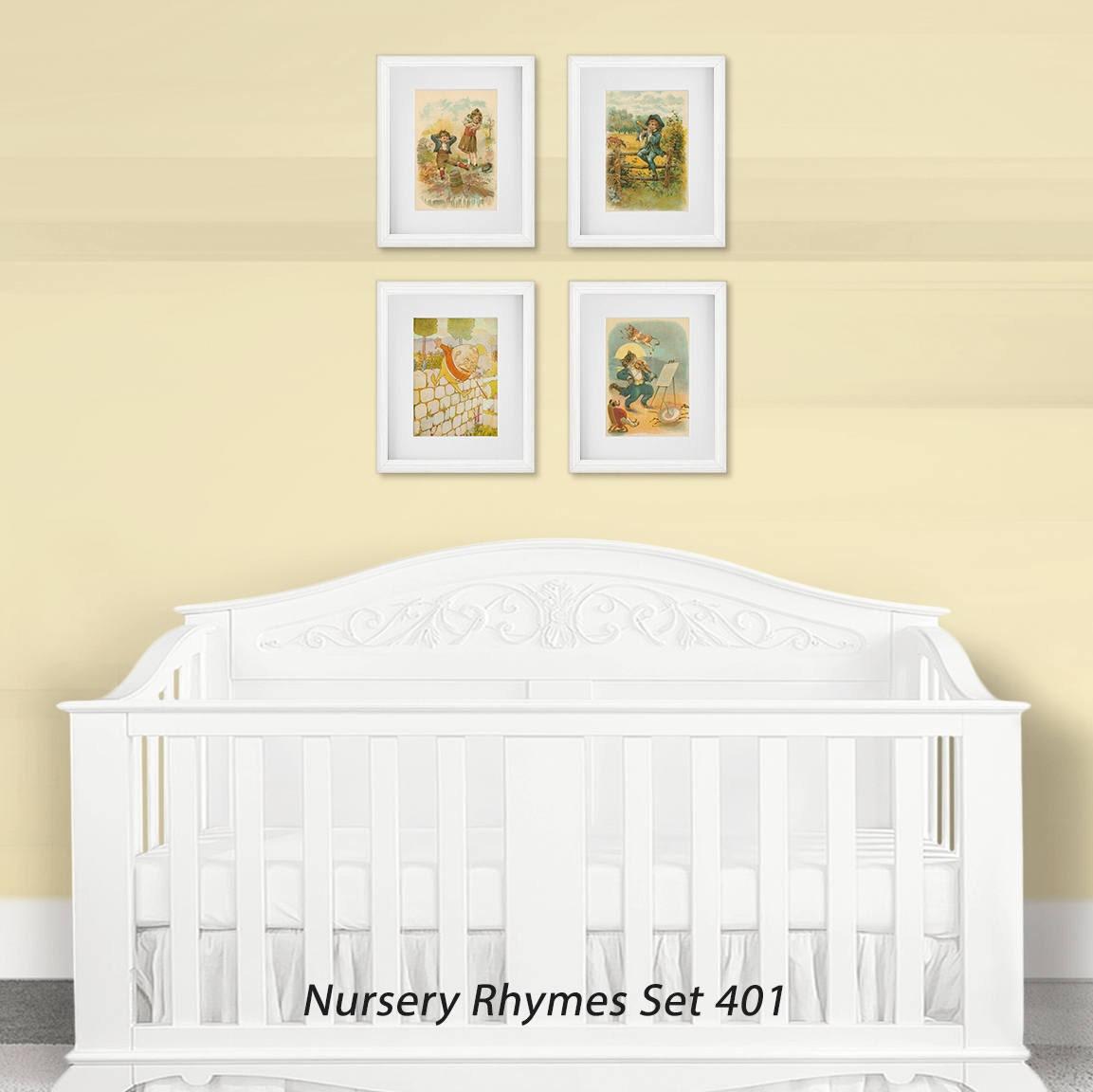 Nursery Wall Art Print Set Children S Nursery Rhymes