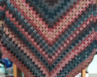 Crochet shawl, handmade shawl