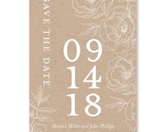 Rustic Save the Date Magnet, Save the Date Magnets, Save the Dates, Minimalist Wedding