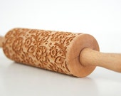 FOLK kids - embossing rolling pin for kids, small laser engraved rolling pin. Valek KIDS! Kids' toys!