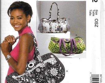 McCall's M7102 Large Expanding Tote Travel Bag Purse Handbag Sewing Pattern 7102 UNCUT