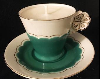Mini tea cup candle