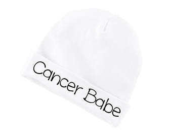 Cancer Babe Zodiac Cotton Beanie For Infants