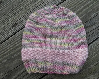 Mint Meltaway Baby Hand-Knitted Merino Wool Baby / Toddler Hat -- choose your size -- made to order