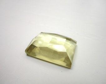 GCF-1091 - Natural Lemon Quartz Gemstone - 13x18mm Rectangle Faceted Cabochon - AA Quality - 1 Cab