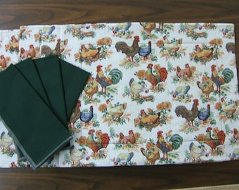 Country Themed, Placemat and Napkins, Table Decorations, Chicken Placemats, Kitchen Placemats, Home Decorations, Home Fashion, Home Decor