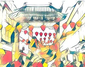 china town Digital art download