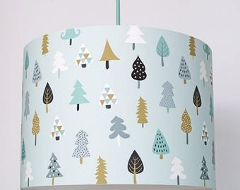 Little Trees Handmade Paper Lampshade