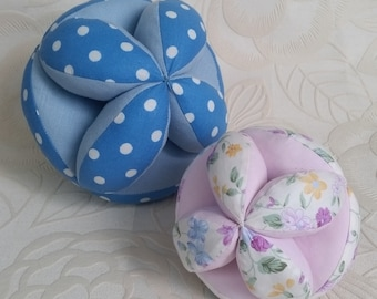 Montessori learning education activity textile baby puzzle toy fabric ball.