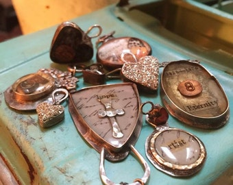 Online  Bezel making class, Part 1 , resin, Tutorial Jewelry learn to make these,Terri Brush