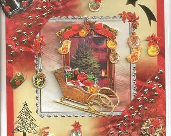3d sleigh Christmas card
