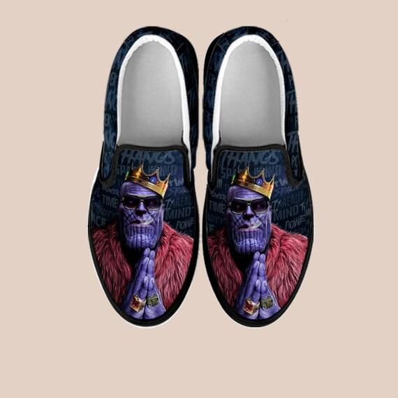 Infinity Custom Thanos shoes slip Shoes Art Custom Thanos Vans Slip Marvel on Comic Marvel On War Avengers on Shoes Custom Slip Shoes Wrffax