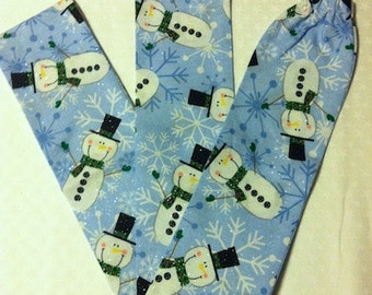 Snowmen and Snowflakes Stethoscope Cover