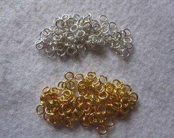 100 Rings ~ Jump Rings ~ Silver ~ Gold ~ 4mm,6mm,8mm Jump Rings ~ Wholesale Findings Lots ~ 18 Gauge Jump Rings ~ Metal Jewelry Rings