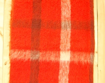 Vintage 1950's/60's Craig Na Cridhe Mohair Blanket / HUDSON'S BAY / Made In Scotland / Retro Collectable Rare