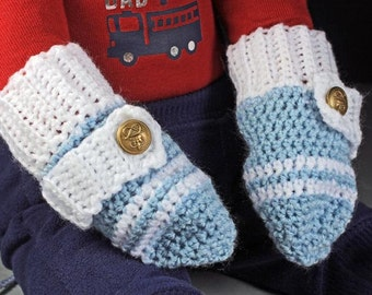 Blue Baby Mittens, Crochet Baby Mittens, Boys Baby Mittens, Handmade, Infant Winter Mittens, 0-3 month, Attached Twisted String, Baby Shower