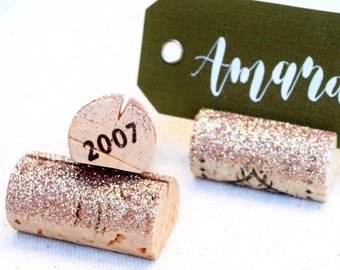 Rose Gold Place Card Holder, Wedding Decor, Name Card Holder Place Card Holder Gold, Rose Gold Table Numbers, Wine Bridal Shower Decorations