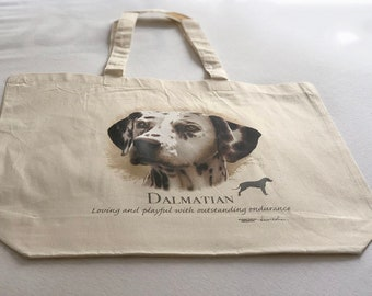 Dalmation Dog  100% Cotton Tote  Shopper Bag For Life