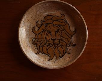 Leo Lion Handmade Plate