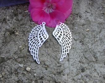 2 prints 50x20MM silver metal wings