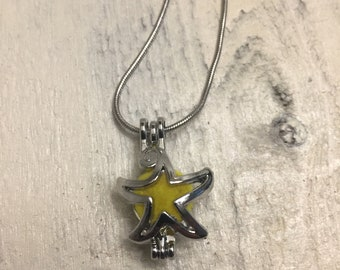 Essential Oil Diffuser Charm Necklace~ Starfish