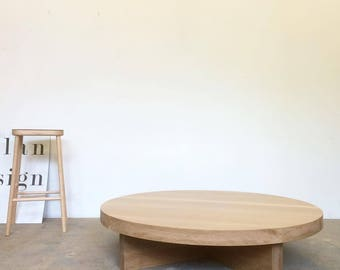Incroyable White Oak Coffee Table Round   Free Shipping Dylan Design Co.