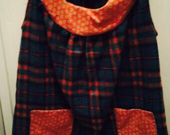 Soft Flannel plaid jumper  sz 2,3-4,5-6