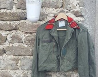 Vintage re-made in England military jacket
