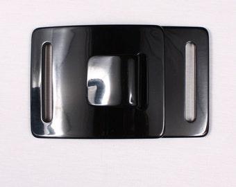 2 128x80mm, resin, black belt buckles (3001)