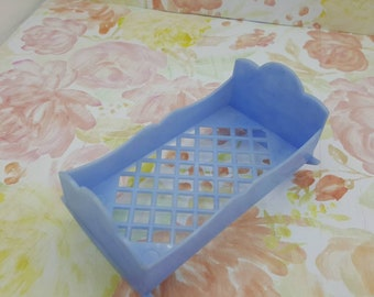 Best Toys Child Cradle Blue Large Scale  Miniature  Doll House Toy Bedroom