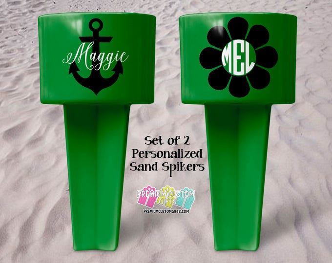 Personalized Sand Spiker - Beach Sand Spiker - Monogrammed Beach Cup Holder - Custom  Beach Cup Holder - Wedding Party Gifts - Vacation Gift