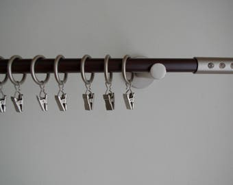 Curtain Pole Set - Brown and Silver