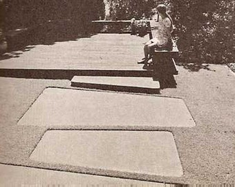 1973 How To Build Walks Walls Patio Floors MID CENTURY modern landscape design book