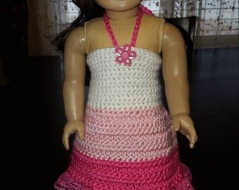 Crocheted 18 Inch Doll Summer Dress