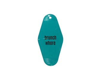 Gettin' Luhky - Brunch Whore Vintage Hotel Key Tag