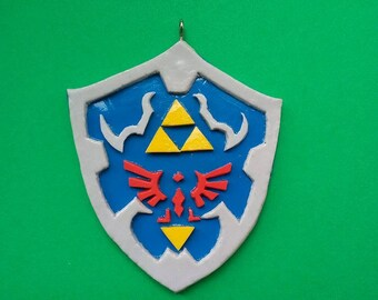 Hyrule shield -Inspired by The legend of Zelda- charm - Polymer clay - Handmade