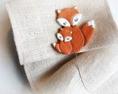 Fox ornament 2 Curtain ti...